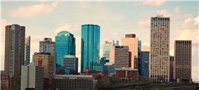 Skyline of Edmonton