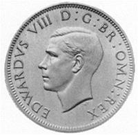 The media here depicts a coin which was minted during Edward VIII's reign.