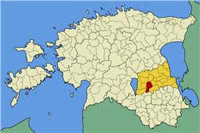 Nõo Parish within Tartu County.