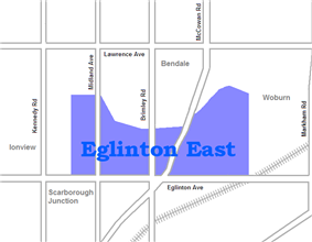 Location of Eglinton East