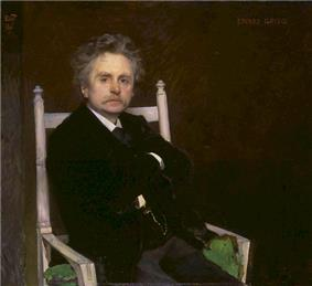 Norwegian composer and pianist Edvard Grieg