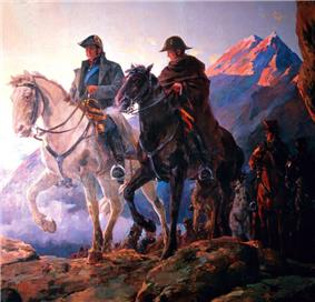 Portrait of two riders on the top of a mountain