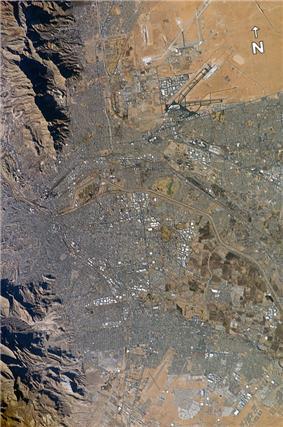 Satellite view of El Paso–Juárez