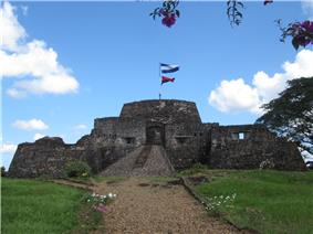 Color photograph of the Fortress of the Immaculate Conception in Nicaragua, taken in February 2011