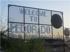 Eldorado welcome sign