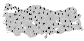 Electoral districts of Turkey