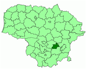 Location of Elektrėnai municipality