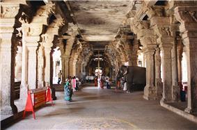 Pillars of Srirangam Temple