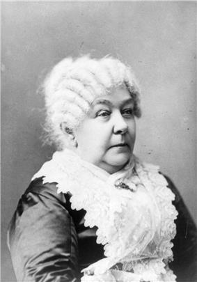 Shoulder high portrait of an old woman with white hair