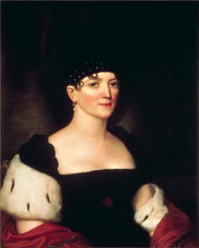 Portrait painting of Elizabeth Monroe
