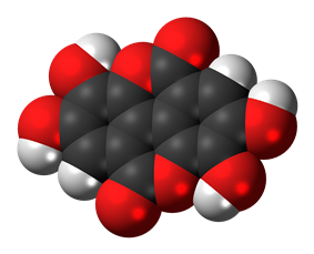 Space-filling model of the ellagic acid molecule