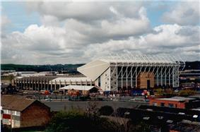 Elland Road, Leeds United's stadium, East Stand to the right, South Stand to the left