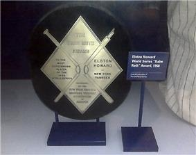 The Babe Ruth Award given to Elston Howard for his performance in the 1958 World Series