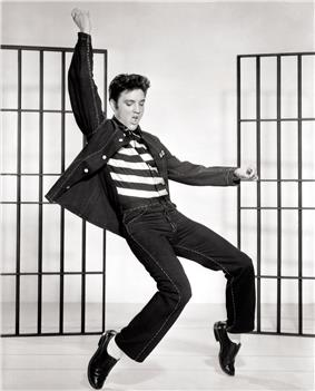 Elvis Presley in a publicity photo for Jailhouse Rock