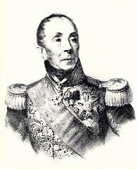 Portrait of highly decorated marshal with a haughty look