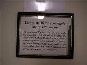 Emmaus Bible College's Mission Statement