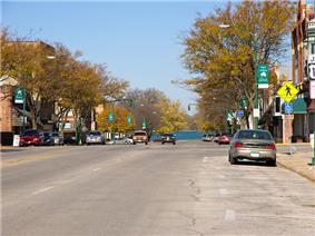 Street in Emmetsburg