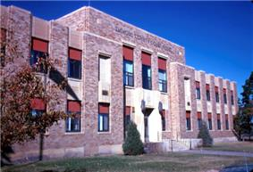 Emmons County Courthouse in Linton - Dedicated, October 6, 1934 on the occasion of the 50th anniversary of Emmons County