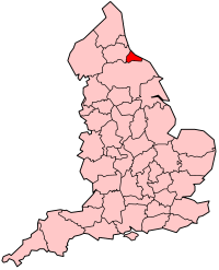 Cleveland shown within England