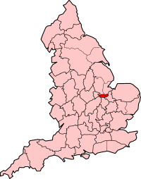 Soke of Peterborough shown within England