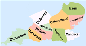 Celtic tribes of southern Britain at the start of the Roman period