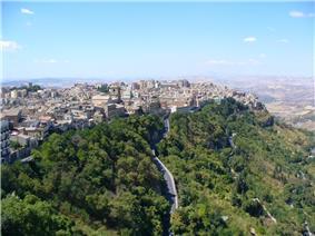 Panorama of Enna