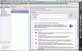 Microsoft Entourage Screenshot