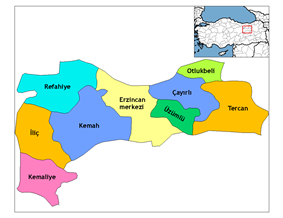 Districts of Erzincan