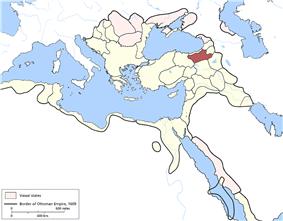 Location of Erzurum Eyalet