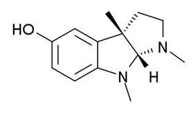 Chemical structure of Eseroline.