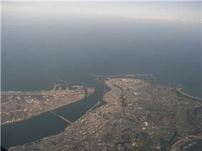 Aerial view of Chōshi