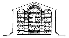 façade cross section view