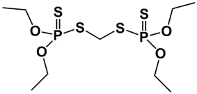 Skeletal formula of ethion