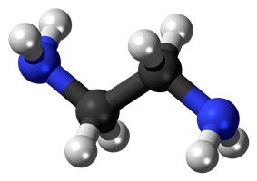 Ball and stick model of ethylenediamine
