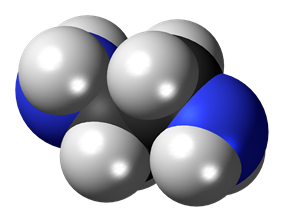 Space-filling model of ethylenediamine