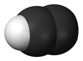 Spacefill model of ethynyl radical