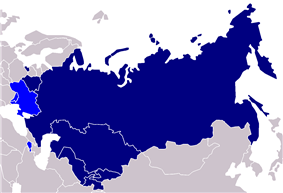 Map of EURASEC countries