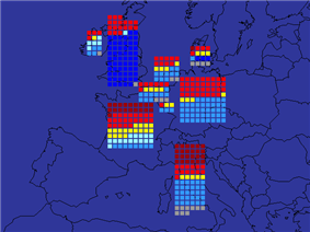 European Parliament election, 1979 - electoral map
