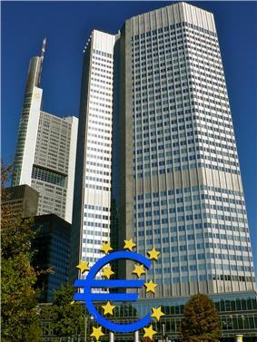 Headquarters European Central Bank in Frankfurt, Germany