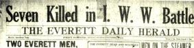 Everett massacre newspaper headline