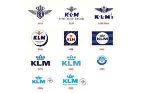 Evolution of the KLM logo