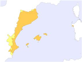 Map of catalan language domain