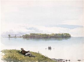 Dorval Island as painted by Frances Anne Hopkins, 1866.
