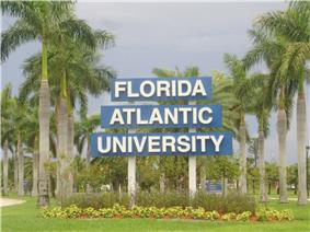 The entrance sign at Florida Atlantic University