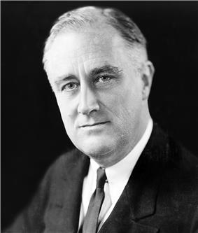 Franklin D. Roosevelt, thirty-second President of the United States