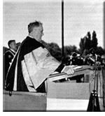 Franklin D. Roosevelt speaking at Queen's University