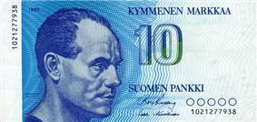 10 markkaa reverse