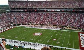 American football stadium prior to opening kickoff.