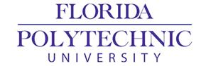 Florida, Polytechnic, & University on three lines, center aligned and in purple. Florida & Polytechnic are separated by a horizontal bar (the width of
