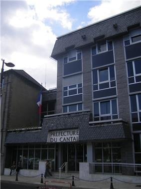 Prefecture building of the Cantal department, in Aurillac